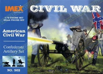 IMEX502 American Civil War Confederate Artillery Set 1:72 Scale